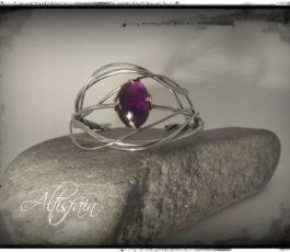 Bracelet inox «Les Péchés Capitaux: l' Orgueil» Améthyste